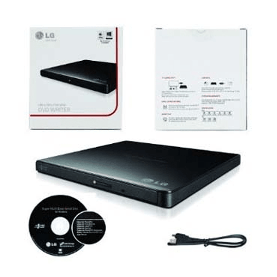 GRAB DVD EXT LG SLIM USB GP65 BLACK