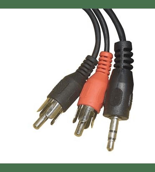 CABLE AUDIO PLUG 3.5 A 2 RCA M 3.0M