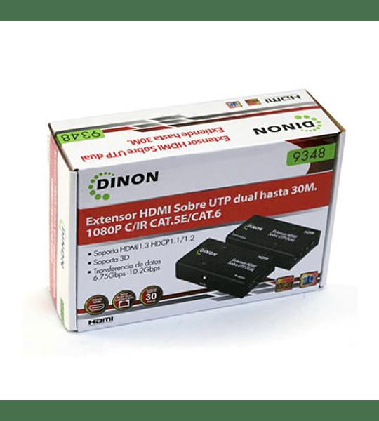 ADAPT HDMI EXTENSOR H/H 30MT DINON