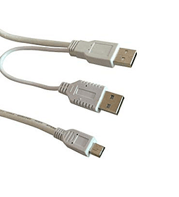 CABLE USB MICRO A USB X2 MACHO HDD