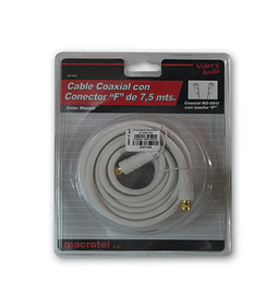 CABLE COAXIAL RG59 F 7.5MTS WHITE
