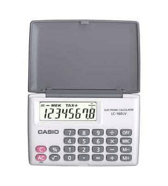 CALC CASIO 8 DIG LC-160-LV-WE-W