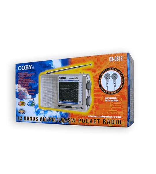 RADIO COBY PORTATIL AM/FM AUDIF