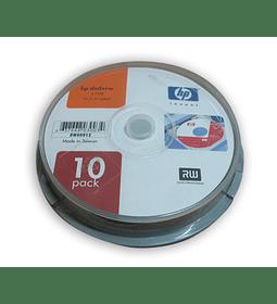 DVDV REG. HP +RW 2.4X CAKE10 NEW