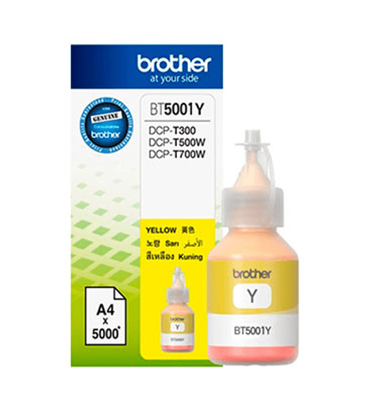 TINTA BROTHER BT5001Y YELLOW BOTTL
