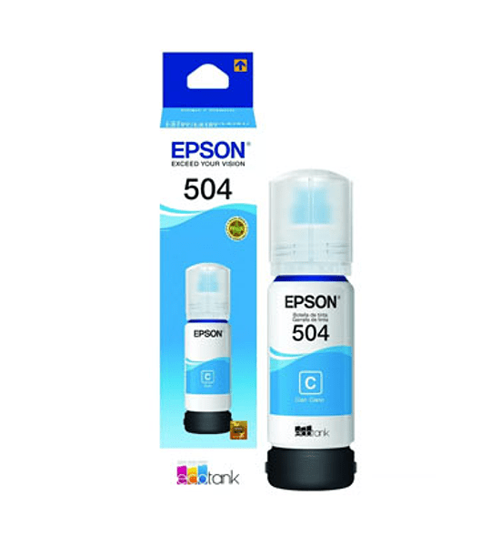 TINTA EPSON T504 CYAN BOTTLE 70ML