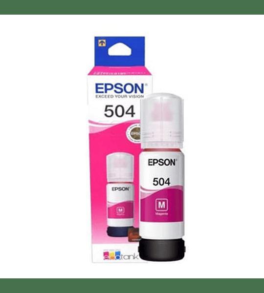 TINTA EPSON T504 MAGENTA BOTTLE 70M
