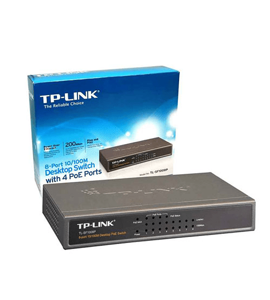 SWITCH TP-LINK 08 BOCAS TLSF1008POE