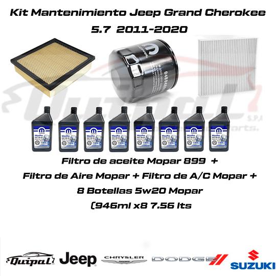 Kit Filtros Mopar+ 5w20 Mopar Grand Cherokee 5.7 2011-2020