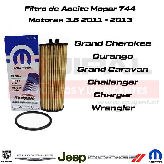 Filtro aceite Mopar 744AD 3.6L Jeep/Dodge/Chrysler