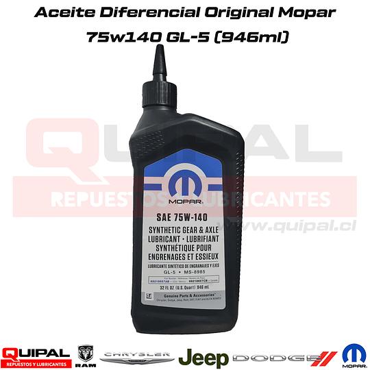 Aceite Diferencial 75w140 Original Mopar 946ml