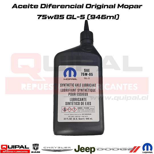 Aceite Diferencial 75w85 Original Mopar 946ml