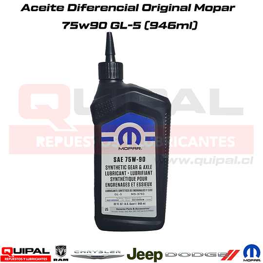 Aceite Diferencial 75w90 Original Mopar 946ml