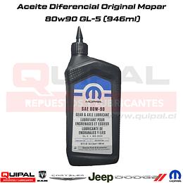 Aceite Diferencial 80w90 Original Mopar 946ml