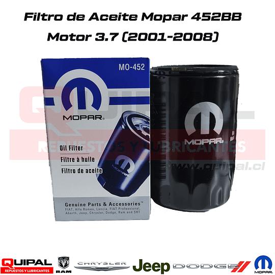 Filtro Aceite Original Mopar 452BB Motor 3.7L 2001-2008