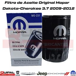 Filtro Aceite Original Mopar 231 Motor 3.7L 2009-2012