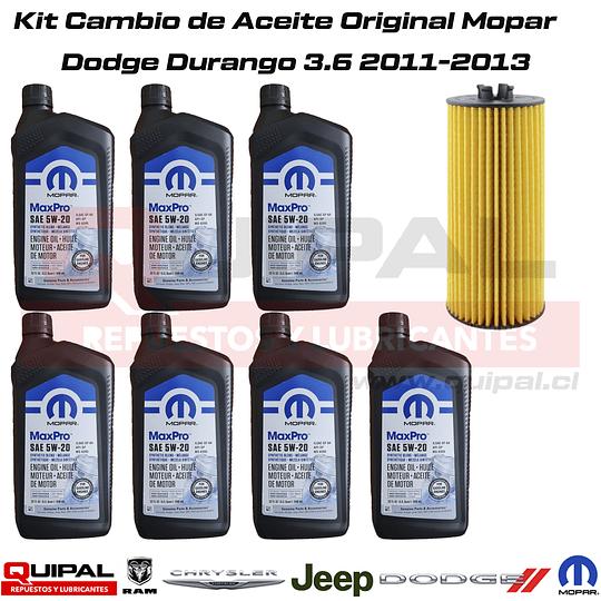 Kit Cambio Aceite Original Mopar Dodge Durango 3.6 11-13