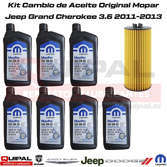 Kit Cambio Aceite Original Mopar Jeep Grand Cherokee 3.6 11-13