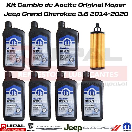 Kit Cambio Aceite Original Mopar Jeep Grand Cherokee 3.6 14-20