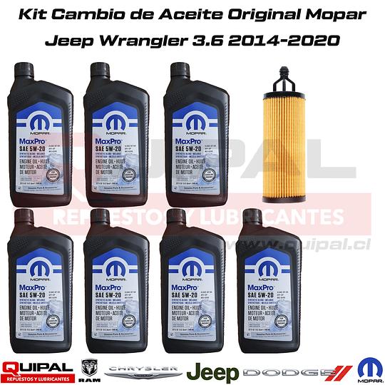 Kit Cambio Aceite Original Mopar Jeep Wrangler 3.6 14-20