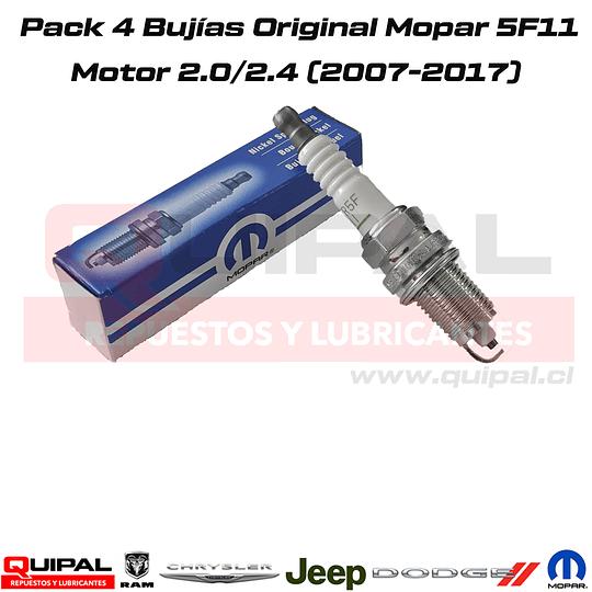 Pack 4 bujías Original Mopar Motor 2.0/2.4 2007-2017