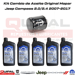 Kit cambio de aceite Jeep Compass 2.0/2.4 2007-2017
