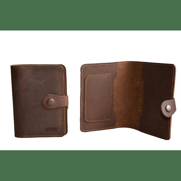 Porta pasaporte/documento Aconcagua Raiquen Hecho a mano