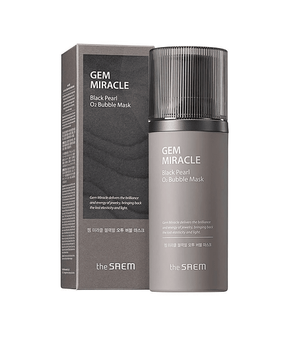 The Saem Gem Miracle Black Pearl O2 Bubble Mask 105g