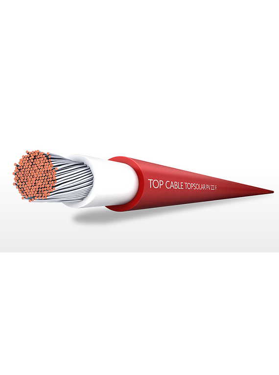 TOP CABLE SOLAR  ROJO 4MM