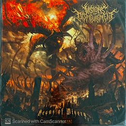 LP - VISIONS OF DISFIGUREMENT - Aeons of Misery VINYL 12'