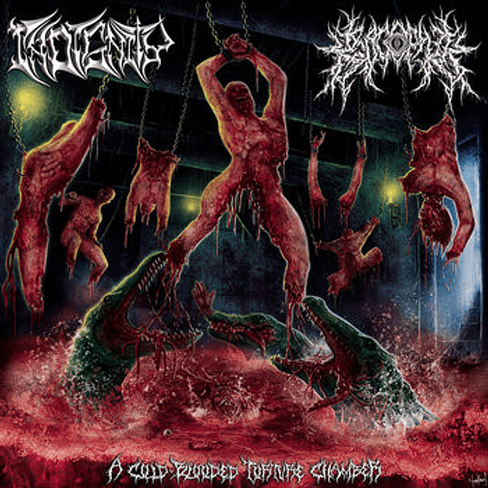 CD - INDIGNITY / KROCOPHILE - A Cold-Blooded Torture Chamber SPLIT