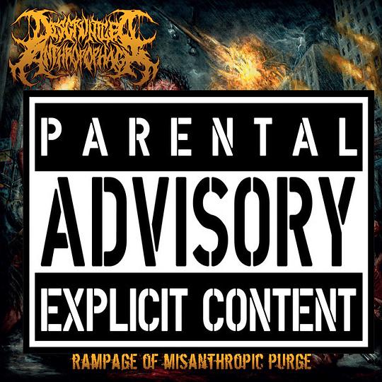 DISGRUNTLED ANTHROPOPHAGI - Rampage Of Misanthropic Purge CD