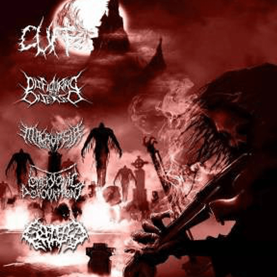 CUFF / DISFIGURING THE DISEASED / EMBRYONIC DEVOURMENT / MACROPSIA / SPLATTERED ENTRAILS - 5 WAY SPLIT CD