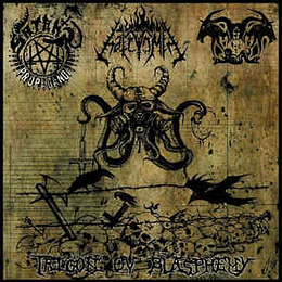 SATAN'S PROPAGANDA / IMPALER OF PEST / HATEVÖMIT - Trigon Ov Blasphemy  3 WAY SPLIT CD