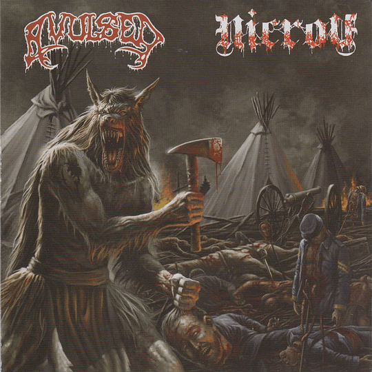 AVULSED / NICROV - Lycanthropic Carnage SPLIT CD