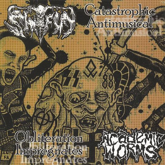 SHITFUN / ACADEMIC WORMS -  Catastrophic Antimusical / Obliteration Impregnates SPLIT CD