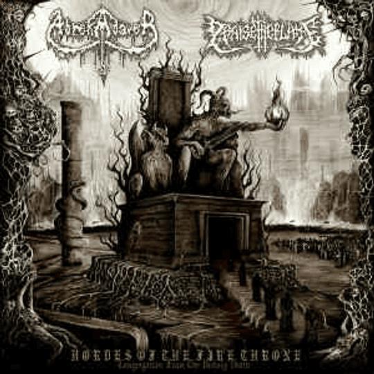 ABREKADAVER / PRAISE THE FLAME - Hordes Of The Fire Throne SPLIT CD