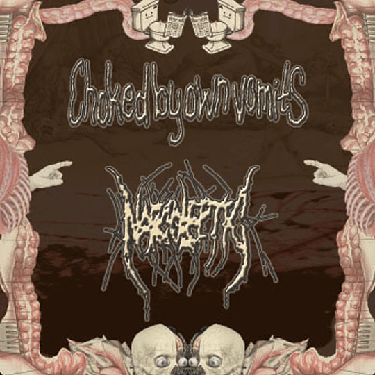 CHOKED BY OWN VOMITS / NARCOLEPTIC - Shit Is Coming Back To Life ... - Chci Pít Tvou Krev SPLIT CD