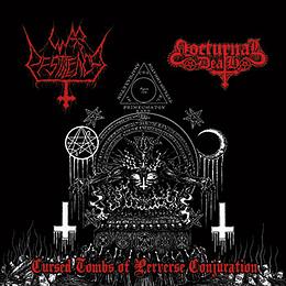 WAR PESTILENCE / NOCTURNAL DEATH - Cursed Tombs of Perverse Conjuration SPLIT CD