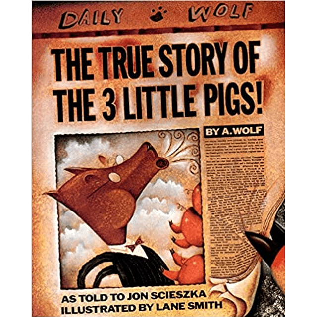 The True Story Of The 3 Little Pigs Paperback
