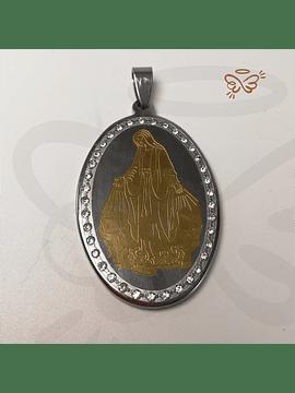 Virgen de La Milagrosa - Medalla Acero