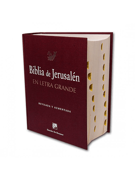 Biblia De Jerusalén || En Letra Grande Nueva Edicion Revisada Y Aumentada