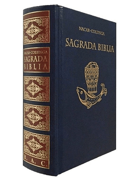 SAGRADA BIBLIA (NACAR-COLUNGA) PASTA DURA