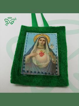 Escapulario Verde || Sagrado Corazón de María