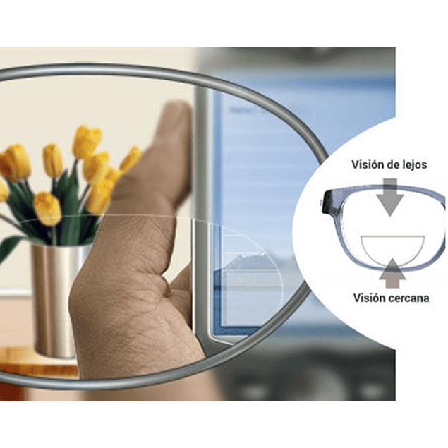 Bifocal invisible RDA SAS sin Anti reflejo
