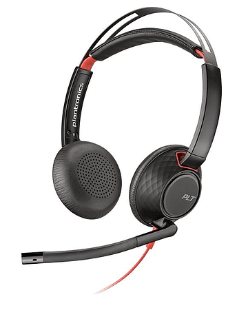 Poly Audífono Blackwire 5220, Dual 3.5mm y USB Type-A Stereo On-Ear