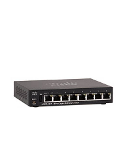 Cisco Small Business SG250-08HP Switch - L3 - smart - 8 x 10/100/1000