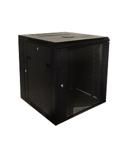 LINKMADE 12U RACK DOBLE BISAGRA 60CM-FONDO NEGRO INC-2U