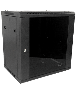 LINKMADE 45cm-Fondo 12U Gabinete Rack Pared Negro inc/M6-4KIT/2U