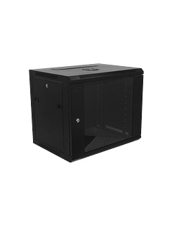 Linkmade 45cm-Fondo 9U Gabinete Rack Pared Negro inc-M6-2U